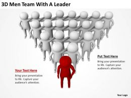 3D Men Team With A Leader Ppt Graphics Icons