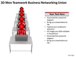 3d men teamwork business networking union Ppt Graphic Icon