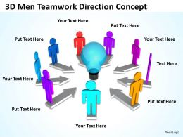 3D Men Teamwork Direction Concept Ppt Graphics Icons