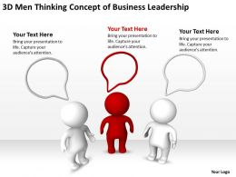 3D Men Thinking concept of Business Leadership Ppt Graphics Icons