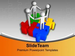 3d Men Unity On Jigsaw Puzzles Business Powerpoint Templates Ppt Backgrounds For Slides 0113