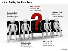3d Men Waiting For Their Turn Ppt Graphics Icons Powerpoint