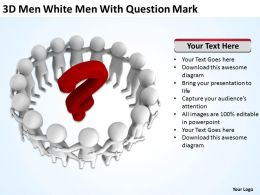 3D Men White Men With Question Mark Ppt Graphics Icons