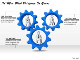 3d Men With Briefcase In Gears Ppt Graphics Icons Powerpoint