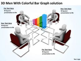 3D Men With Colorful Bar Graph solution Ppt Graphics Icons Powerpoint