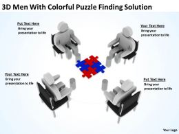 3d_men_with_colorful_puzzle_finding_solution_ppt_graphics_icons_powerpoint_Slide01