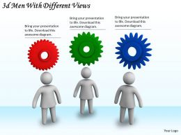 3d Men With Different Views Ppt Graphics Icons Powerpoint
