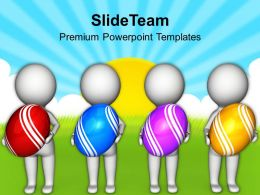 3d Men With Easter Egg Powerpoint Templates Ppt Themes And Graphics 0313