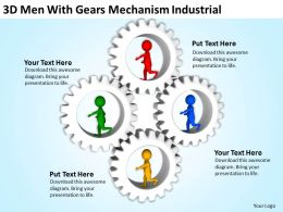 3D Men With Gears Mechanism Industrial Ppt Graphics Icons Powerpoint