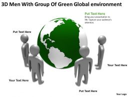 3D Men With Group Of Green Global environment Ppt Graphic Icon