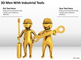 3D Men With Industrial Tools Ppt Graphics Icons Powerpoint