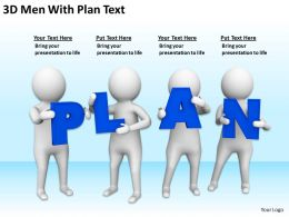 3D Men With Plan Text Ppt Graphics Icons Powerpoint