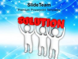 3d Men With Solution PowerPoint Templates PPT Themes And Graphics 0213