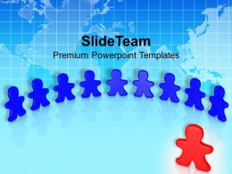 3d Men With Team Leader Powerpoint Templates Ppt Backgrounds For Slides 0213