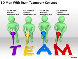 3D Men With Team Teamwork Concept Ppt Graphics Icons Powerpoint
