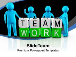 3d Men Working As Team Teamwork PowerPoint Templates PPT Themes And Graphics 0213