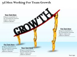 3d Men Working For Team Growth Ppt Graphics Icons Powerpoint