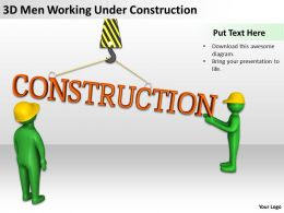 3D Men Working Under Construction Ppt Graphics Icons Powerpoint