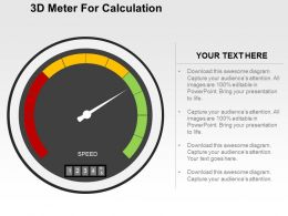 3d Meter For Calculation Flat Powerpoint Design