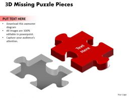 3D Missing Puzzle Piece