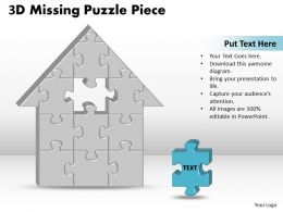 3D Missing Puzzle Piece Home
