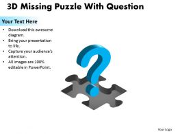 3D Missing Puzzle Piece Question