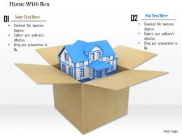 3D Model Of House In Cardboard Box