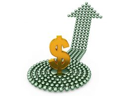 3D Money Growth Arrow Stock Photo