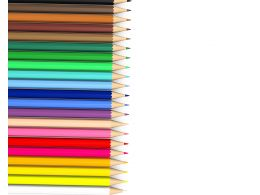 3D Multicolor Pencils Stock Photo