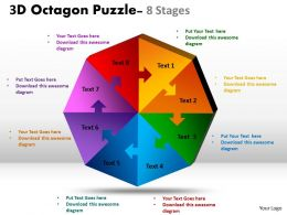 3D Octagon diagram Puzzle Process 6