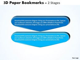 3D Paper Bookmarks 2 Stages 1