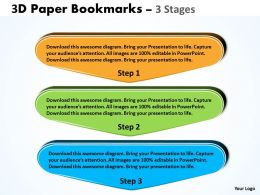 3D Paper Bookmarks 3 Stages 14