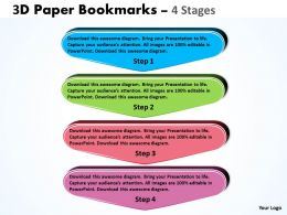 3D Paper Bookmarks 4 Stages 2