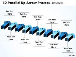 3D Parallel Up Arrow Process 10