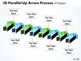 3D Parallel Up Arrow Process 2