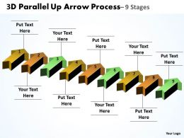 3D Parallel Up Arrow Process 9