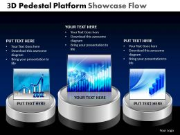 3D Pedestal Platform Showcase Flow Powerpoint Slides And Ppt Templates DB