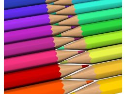 3D Pencils Graphics Stock Photo