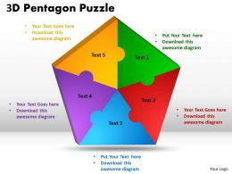 3D Pentagon diagram Puzzle Process 6