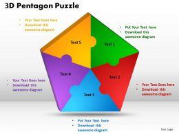 3D Pentagon Puzzle Process 3