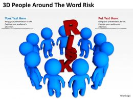 3D People Around The Word Risk Ppt Graphics Icons