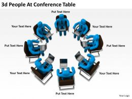 3D People At Conference Table Ppt Graphics Icons