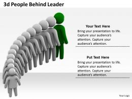 3d People Behind Leader Ppt Graphics Icons Powerpoint