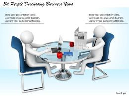 3d People Discussing Business News Ppt Graphics Icons Powerpoint