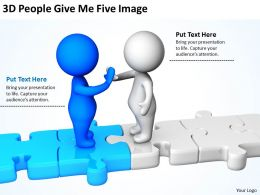 3D People Give Me Five Image Ppt Graphics Icons Powerpoint