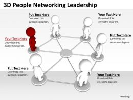 3D People Networking Leadership Ppt Graphics Icons