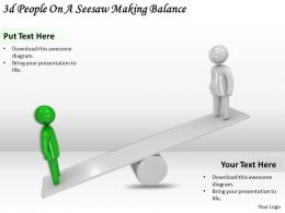 3d_people_on_a_seesaw_making_balance_ppt_graphics_icons_powerpoint_Slide01