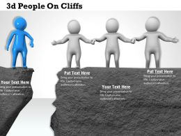 3d People On Cliffs Ppt Graphics Icons Powerpoint