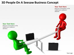 3D People On Seesaw Business Concept Ppt Graphics Icons