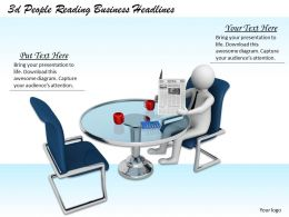 3d People Reading Business Headlines Ppt Graphics Icons Powerpoint